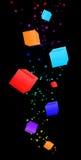 Абстрактная предпосылка кубика Стоковые Изображения RF