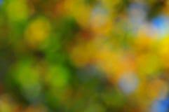 Абстрактная предпосылка настроения в золоте и сини Брайна зеленом Стоковые Изображения