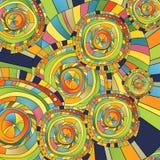 абстрактная предпосылка объезжает цвет иллюстрация вектора