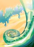 абстрактная предпосылка органическая Стоковое Изображение