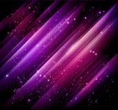 абстрактная предпосылка освещает пурпур Стоковые Изображения