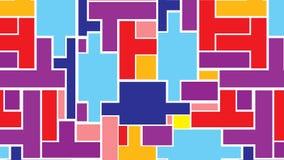Абстрактная предпосылка от разнообразие прямоугольных форм Стоковые Фото