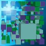 Абстрактная предпосылка перспективы кубов в 3d стиле - простая иллюстрация вектора иллюстрация вектора