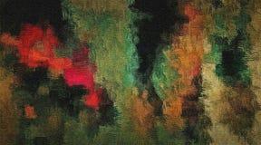 Абстрактная предпосылка покрашенной текстуры grunge запачканных мазков и пятен краски на текстурированном холсте Стоковая Фотография RF