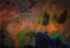 Абстрактная предпосылка покрашенной текстуры grunge запачканных мазков и пятен краски на текстурированном холсте Стоковое Изображение RF