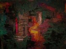 Абстрактная предпосылка покрашенной текстуры grunge запачканных мазков и пятен краски на текстурированном холсте Стоковое Фото