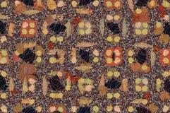 Абстрактная предпосылка покрашенной текстуры grunge запачканных мазков и пятен краски на текстурированном холсте Стоковое Изображение