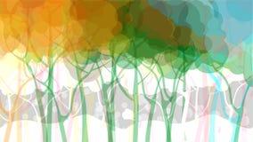 Абстрактная предпосылка пущи иллюстрация вектора