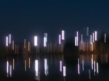 Абстрактная предпосылка светов ночи с космосом экземпляра стоковая фотография rf