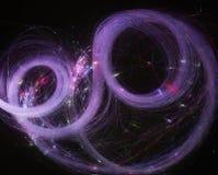 абстрактная предпосылка светящий завихряться Элегантный накалять Искриться частица Линии вспышки стоковые изображения rf