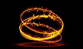абстрактная предпосылка светящий завихряться Элегантный накаляя круг Большое облако данных Светлое кольцо Искриться частица Тонне иллюстрация штока