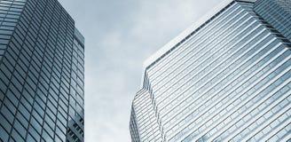 Абстрактная предпосылка сини архитектуры Стоковая Фотография RF