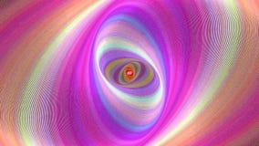 Абстрактная предпосылка спирали эллипсиса - безшовный график движения петли видеоматериал