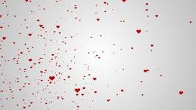Абстрактная предпосылка с анимацией красивого сердца ровной акции видеоматериалы