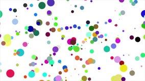Абстрактная предпосылка с анимацией красивой/красочной сферы ровной сток-видео