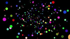 Абстрактная предпосылка с анимацией красивой/красочной сферы ровной видеоматериал