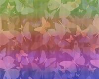 Абстрактная предпосылка с бабочками. Стоковые Изображения