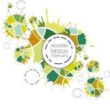 Абстрактная предпосылка с геометрическим дизайном Бесплатная Иллюстрация