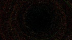 Абстрактная предпосылка с закручивая небольшими частицами сток-видео