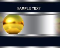 Абстрактная предпосылка с золотистой сферой Стоковое фото RF