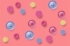 Абстрактная предпосылка с круглыми украшенными формами стоковое фото rf