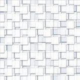 Абстрактная предпосылка с кубическими белыми блоками иллюстрация вектора