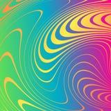 Абстрактная предпосылка с передернутыми линиями Погнутость космоса Жидкое движение бесплатная иллюстрация