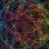 Абстрактная предпосылка с пересекать красочные линии Голубой, gree иллюстрация вектора