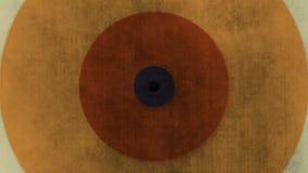 Абстрактная предпосылка с ретро кругами от красочной бумажной текстуры Стоковая Фотография
