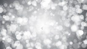 Абстрактная предпосылка с серебряным bokeh Стоковые Фотографии RF