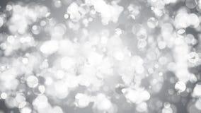 Абстрактная предпосылка с серебряным bokeh Стоковая Фотография RF