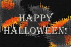 """Абстрактная предпосылка с текстом """"счастливым хеллоуином! """" стоковые изображения rf"""