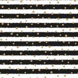 Абстрактная предпосылка с точками и горизонтальными прямыми золота вектор иллюстрация штока
