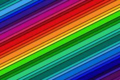 Абстрактная предпосылка с цветами радуги, вкосую линиями Стоковые Фотографии RF