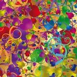Абстрактная предпосылка с цветастыми сердцами Стоковое Фото