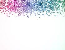Абстрактная предпосылка с цветастым кругом. Вектор бесплатная иллюстрация