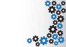Абстрактная предпосылка с черными и голубыми шестернями r бесплатная иллюстрация