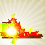 Абстрактная предпосылка с яркой красочной формой иллюстрация вектора
