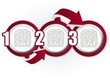 Абстрактная предпосылка с 3 шагами пузырей Стоковые Изображения