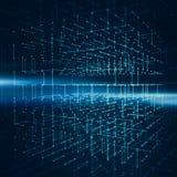 Абстрактная предпосылка с wireframe куба прозрачности Стоковое Изображение RF