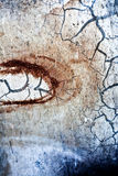 абстрактная предпосылка трескает ржавчину Стоковая Фотография