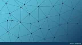 Абстрактная предпосылка треугольника вектора градиента Голубая полигональная картина сети иллюстрация штока