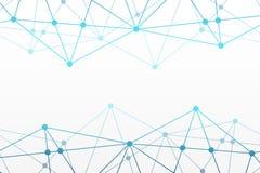 Абстрактная предпосылка треугольника вектора Полигональная картина сети Голубые соединенные линии и иллюстрация кругов для нервно бесплатная иллюстрация