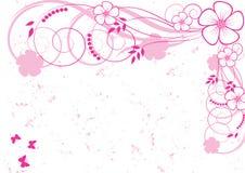 абстрактная предпосылка флористическая иллюстрация вектора