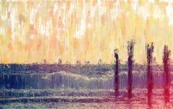 абстрактная предпосылка фото стиля картины маслом настроения моря Стоковое Изображение