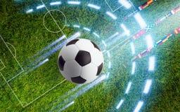 Абстрактная предпосылка футбола Стоковые Фото