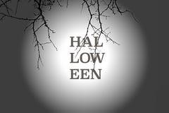 Абстрактная предпосылка хеллоуина с большой луной Стоковое Фото