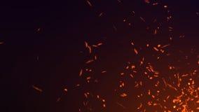 Частицки пыли Абстрактная предпосылка частиц Летание огня искрится r иллюстрация штока