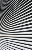 абстрактная предпосылка Черно-белые линии расходясь в лучи Стоковая Фотография