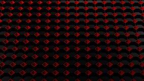 Абстрактная предпосылка - черные восьмиугольники и красные площади перевод 3d иллюстрация штока